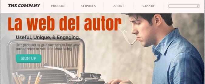 La web del autor