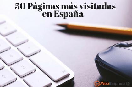 50 Páginas web más visitadas en España